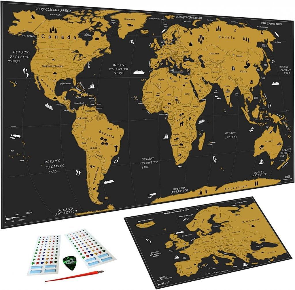 Mappa da grattare - regali per chi ama viaggiare